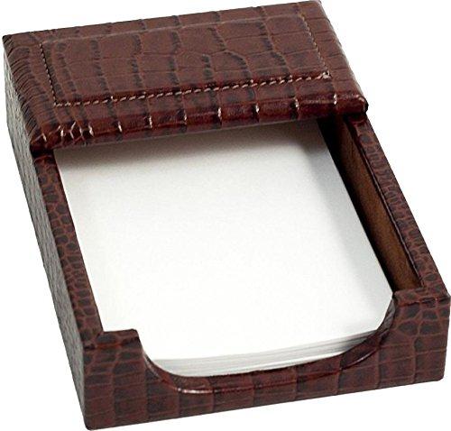 Brown Crocodile Leather 4''x 6'' Memo Holder