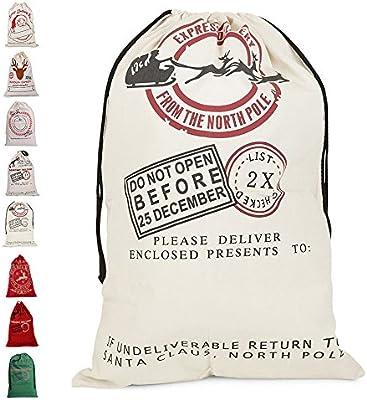 391263cc6 littlegrass Navidad Papá Noel bolsa personalizada lienzo de arpillera bolsa  para regalos de Navidad bolsas de regalo cordón bolsa de Santa especial  entrega ...