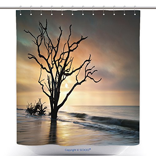 vanfan-Durable Shower Curtains Bone Yard Sunrise At Botany Bay Beach On Edisto Island Sc W Dead Live Oak Tree Driftwood In Ocean Polyester Bathroom Shower Curtain Set With Hooks(40 x - Oaks Nordstrom Thousand