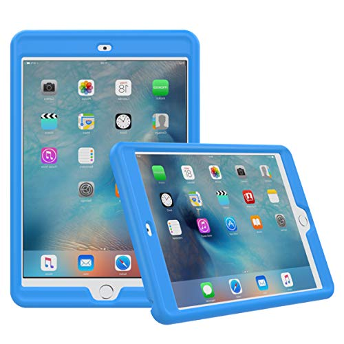 MoKo Case Fit iPad Mini 3/2 / 1- [Honey Comb Series] Light Weight Shock Proof Soft Silicone Back Cover [Kids Friendly] Fit Apple iPad Mini 1 (2012), iPad Mini 2 (2013), iPad Mini 3 (2014), Blue (Apple Ipad Mini 2 Case Silicone)
