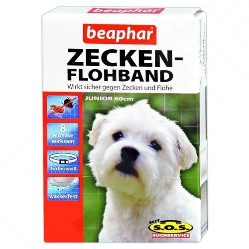 Beaphar - Zecken-Flohband Junior für Hunde mit SOS - 60 cm