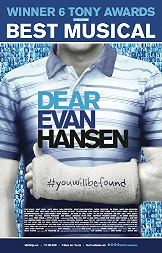 Dear Evan Hansen Musical Poster - Official Broadway Theatre