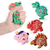 """FLY2SKY Jumbo Squishies Squishies Slow Rising 4.5"""" Kawaii Animals/Food Scented Stress Relief Squeeze Toys for Kids/Adults, Cute"""
