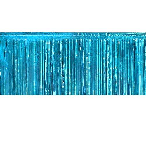 Teal Metallic Fringe Table Skirt]()