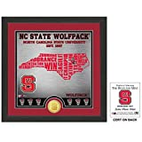 The Highland Mint NCAA North Carolina State Wolfpack State Bronze Coin Photo Mint, 18'' x 14'' x 3'', Bronze