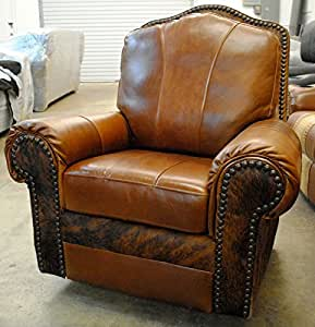 western leather and cowhide recliner kitchen dining. Black Bedroom Furniture Sets. Home Design Ideas