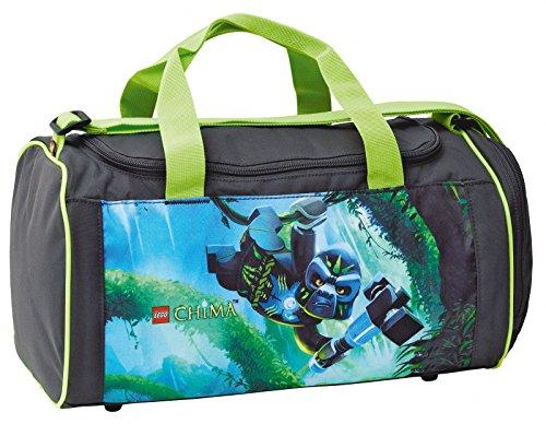 LEGO CHIMA GORILLA Schulsporttasche Sporttasche mit NASSFACH Schwimmtasche Freizeittasche Kindertasche