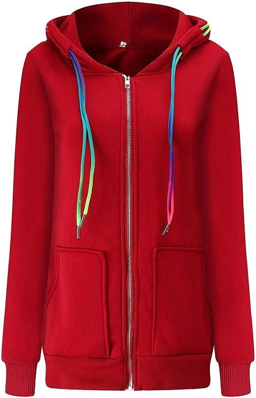 Qikoup płaszcz dla kobiet, kolorowe spinki na tunel, zapinany na zamek błyskawiczny, pełny rękaw z kapturem: Odzież