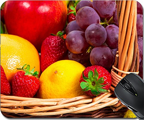 MSD Natural Rubber Mousepad Mouse Pads/Mat design: 28555364 Mix of fruits in a wicker basket