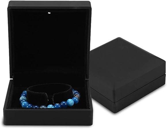 Caja de Regalo de joyería con luz LED, Collar, Pulsera, Anillos, Colgante, Estuche de Almacenamiento para la propuesta de Boda, Compromiso del día de San Valentín, cumpleaños, encantos(Bracelet): Amazon.es: Hogar