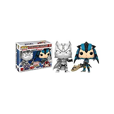 Funko 22788 POP! Vinyl Games: Marvel VS Capcom Black Panther VS Monster Hunter Exclusive: Toys & Games