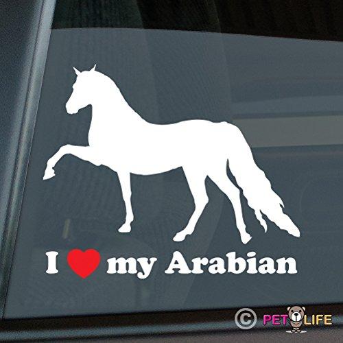 Mister Petlife I Love My Arabian Sticker Vinyl Auto Window Arab Horse