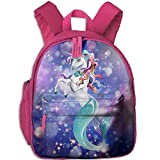 RRide With Unicorns,Swim With Mermaids 3D Print Student Backpack Kids Fashion Bookbags