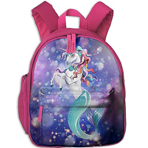 RRide With Unicorns,Swim With Mermaids 3D Print Student Backpack Kids Fashion Bookbags by KHEION Bag