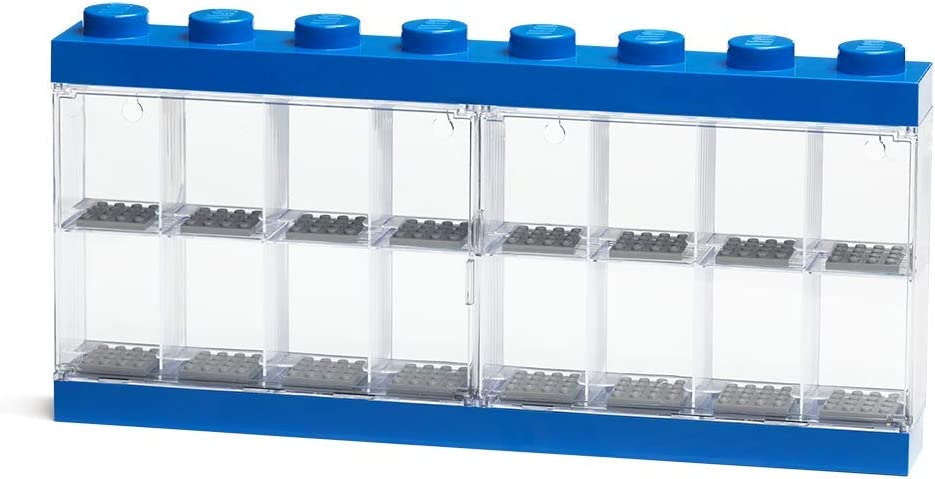 LEGO Minifigure Display Case 16, Blue, One Size