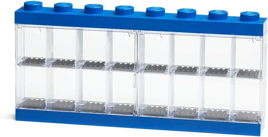 LEGO Minifigure Display Case 16, Blue, One Size