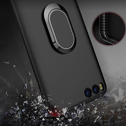 Funda Kickstand Xiaomi Mi 6, Funda Ring Holder Xiaomi Mi6, Vandot [Compatible con la caja de montaje de coche magnético] Accesorio de Hierro Magnético Soporte Giratorio de Anillo de 360 Grados Funda d Anillo-4