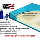 Queen 90% Waveless Waterbed Mattress with Fill Kit and 4oz Conditioner