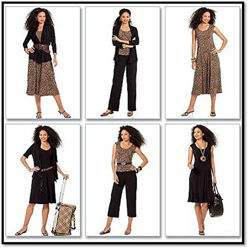 McCall's Patterns M5890 Misses' Jackets, Top, Dresses and Pants in 2 Lengths, Size A5 (6-8-10-12-14)