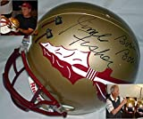 Coach Bobby Bowden and Coach Jimbo Fisher Hand Signed Autographed Florida State Seminoles Full Size Replica Football Helmet - Award Decals