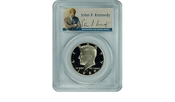 1989-S PCGS PR70DCAM Kennedy Half Dollar Presidential Label