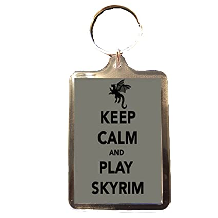 Amazon.com: Play Skyrim – Keep Calm Llavero: Sports & Outdoors