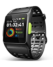 $50 » DR.VIVA GPS Running Watch, Smart Watch Heart Rate/Sleep/Pedometer/ECG Monitor Fitness Tracker with Multi-Sports Mode Message Notifications Color Touch Screen Smartwatch for Android and iOS
