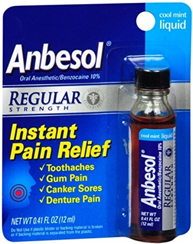 Anbesol Liquid Size .4z Anbesol Cool Mint Liquid Mouth Pain Relief