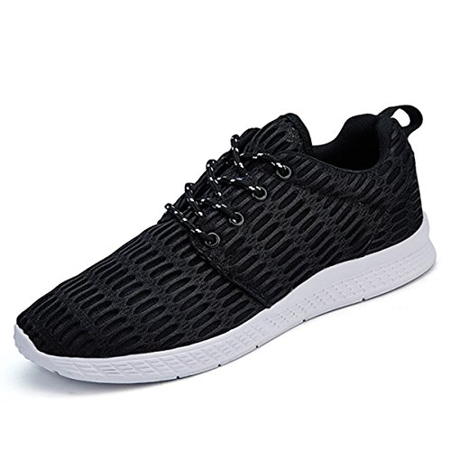 Mesh Walking Shoes, Gracosy Men's & Women's Lightweight Fashion Mesh Sneakers, Breathable Athletic, Outdoor Casual Sports Running Shoes Black 6 US