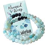 Subherban Essential Oil Bracelets - Aromatherapy Bracelet or Necklace - Lava Rock Anxiety Bracelet - MERMAID WRAP - Handmade Jewelry - Gifts for Women