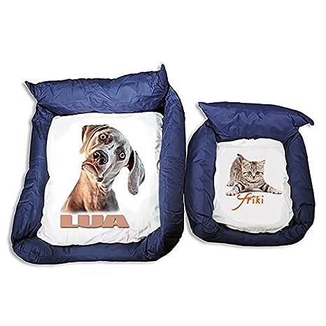 Dkora-T - Cama para mascotas personalizada con fotos - Pequeña: Amazon.es: Hogar