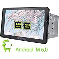 JOYING Universal 2GB Android 6.0 Car Stereo Radio Double Din Head Unit Car Autoradio GPS Navigation Receiver with Bluetooth 8 Touchscreen