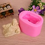 Allforhome Small laughing Buddha Craft Art Silicone Soap mould Craft Molds DIY Handmade soap molds