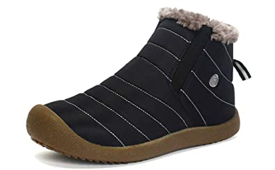 7d61ea4eb7e6f Image Unavailable. Image not available for. Colour: Yooeen Snow Boots Mens  Womens Fur Lined Winter ...