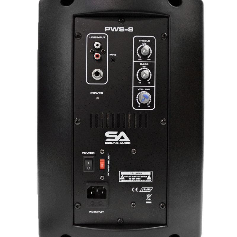 Amazon Com Seismic Audio Pws 8 Pair Powered Pa Dj 8