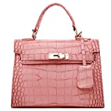 Women Handbag,Women Bag, KINGH Vintage PU Leather Bag Platinum Bag 151 Pink