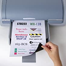 """StoreSMART® - Printable Magnetic-Backed Sheets - 8.5"""" x 11"""" - 10 Scored Labels Per Sheet - 25-Pack - MA811SC-25"""