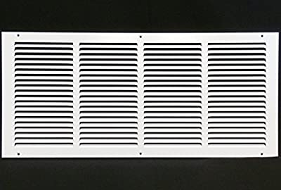 """24""""w X 10""""h Steel Return Air Grilles - Sidewall and Ceiling - HVAC DUCT COVER - [Outer Dimensions: 25.75""""w X 11.75""""h]"""