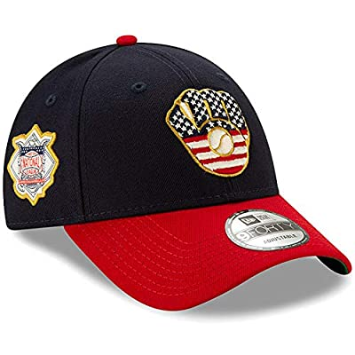 New Era Milwaukee Brewers 2019 Stars & Stripes 4th of July 940 9FORTY Adjustable Cap Hat