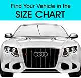Kyпить EzyShade Windshield Sunshade + Bonus Product. Easy-Read Size Chart with Your Vehicle. Universal Hassle-Free Car Sun Shades Keep Your Vehicle Cool. UV Sun and Heat Reflector. Standard (Medium) Size на Amazon.com