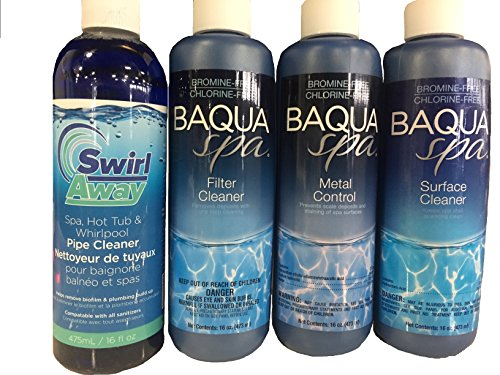 (Baqua Spa Water Change Kit with pH, Alkalinity and Calcium Hardness Adjusters)