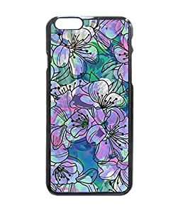 """Purple Flowers water color Hard Customized Case Cover , iPhone 6 Plus (5.5"""") Case Cover, Protection Quique Cover, Perfect fit, Show your own personalized phone Case for iPhone 6 Plus - 5.5 inches by supermalls"""