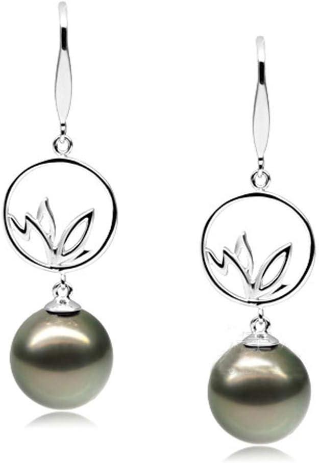 Yarmy Pendientes Naturales de Pendientes Negro Perla de Las Mujeres