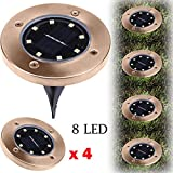 Dressffe Solar Lights Outdoor Ground Lights, 48 LED Solar Power Buried Light Ground Lamp Outdoor Path Way Garden Decking