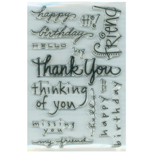 STAMPENDOUS 385145 Perfectly Clear Stamps, Happy (Happy Birthday Clear Stamp)