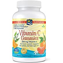 Nordic Naturals - Vitamin C Gummies, Immune System Support for Adults and Kids ages 4+, 60 Soft Gels 250 mg