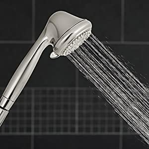 Waterpik NSC 659 6-Mode Handheld Shower with Opti-Flow, Brushed Nickel