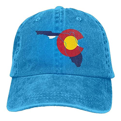 No Soy Como Tu Gorras béisbol Florido Colorado Flag Denim Hat Adjustable Womens Flag Baseball Caps