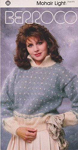 Berroco Mohair Light Butterfly Pullover Style 815 Knitting Pattern ()