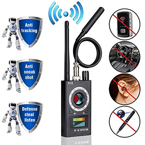 Anti Spy Camera Detector, RF Signal Bug Detector, AHNR Wireless Signal Pinhole Laser Lens GSM Detector Ultra-high Sensitivity Full-Range Tracker Finder